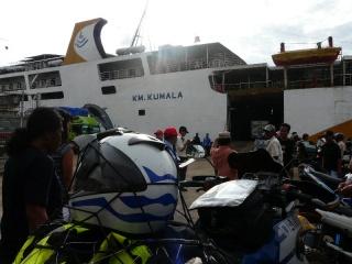 Inside port area, awaiting embarkation onboard the RoRo M/V KM Kumala