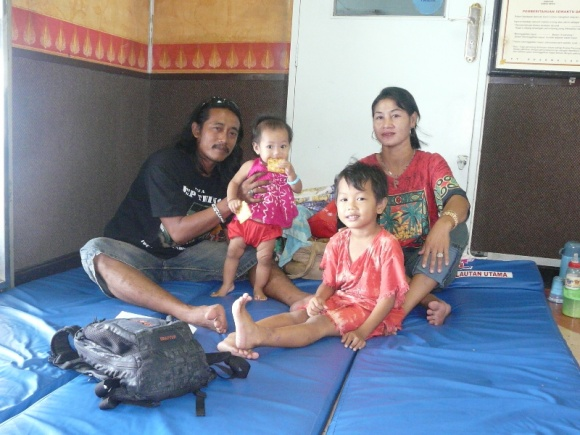 Boat companions, Pak Whayu and his family, on our 18hrs ferry trip from Banjarmasin to Surabaya, Java Island