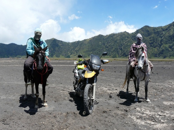 Horsing around with the horsemen of Mt. Bromo