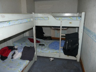 My room & bed in the 1st class berth.
