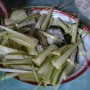 I was offered Indonesia's tradition sticky rice wrapped in coconut leaves