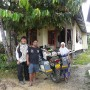 Next day, with Chang and his wife. The bike\'s geared up ready to hit the Borneo roads.