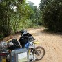 The beginning of a confrontation with the real Borneo jungle roads from Berau to Sangeta (approx 400km ??) - 3 days continue ride they say, if all goes well. 7 to 10 days with some no-ride, if it rains heavily !!