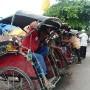 With some cheerful local trishaw riders in Banjarmasin