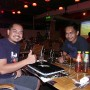 Having a drink with 2 locals at my hotel. On left is Md Read One, and Irwan.